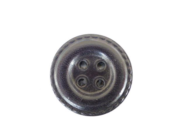 Black Leather Draught button (no.00476)