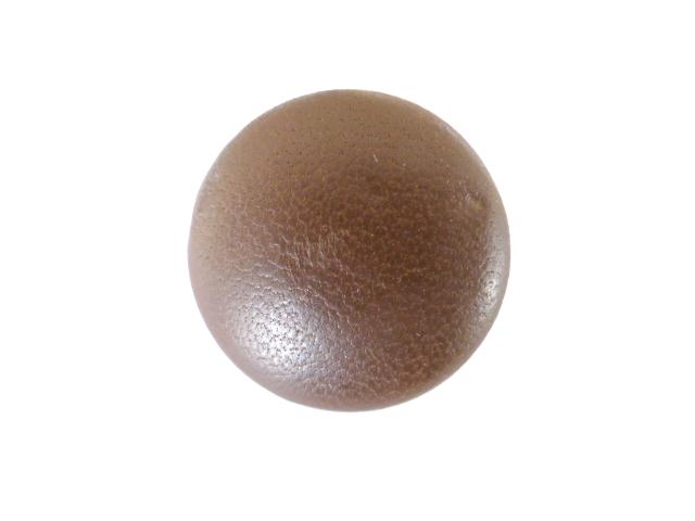 Brown Leather Small Dome button (no.00202)