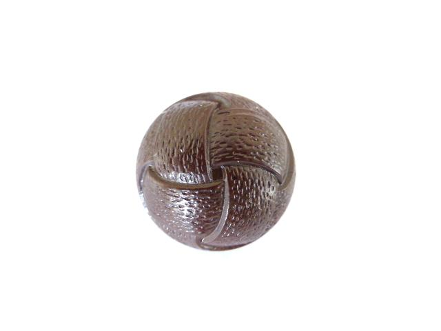 Brown Faux Leather Dome button (no.00468)