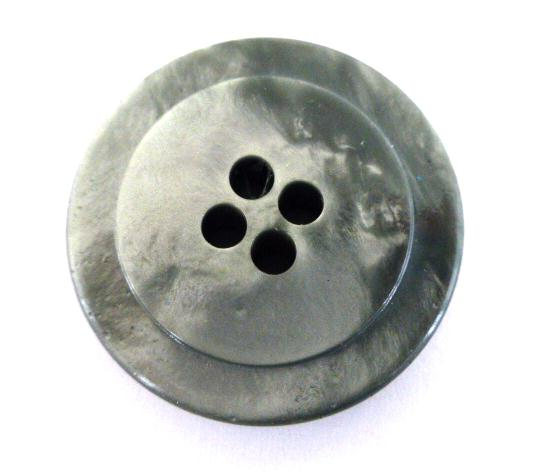 Thick Grey Jukebox Plastic button (no.00482)