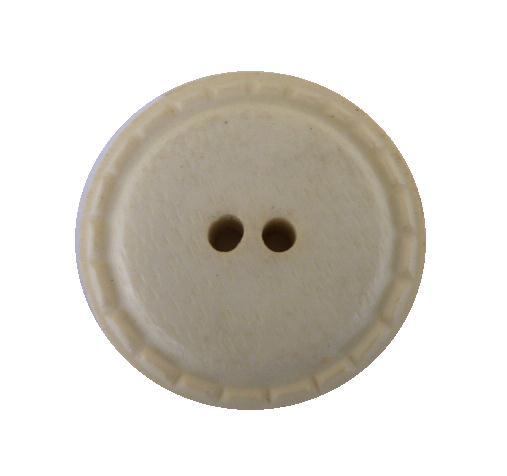 Cream Stitched Plastic button (no.00494)