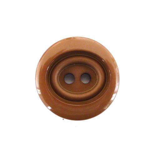 Brown 2 hole button (no.00502)