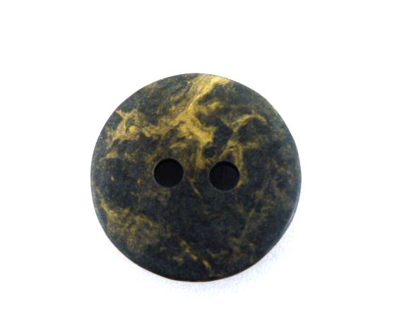 Charcoal Black Gold Veined button (no.00149)