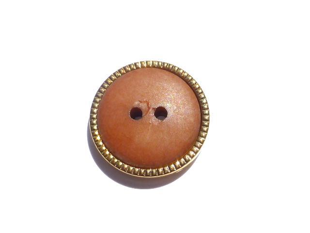 Brown Gilt Edge button (no.00519)