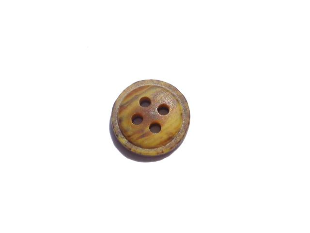 Tiny Brown Tortoiseshell Shirt button (no.00130)