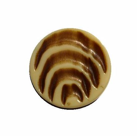 Deco Tiger Cream button (no. 00573)