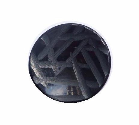 Black Carved Concave button (no.00237)