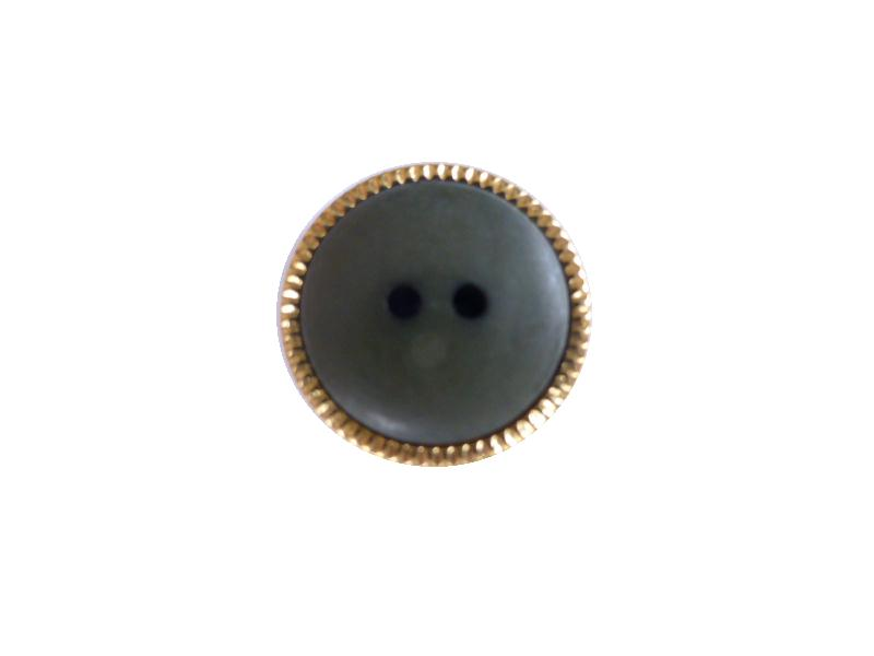 Dark Green Gilt Edge button (no.00518)