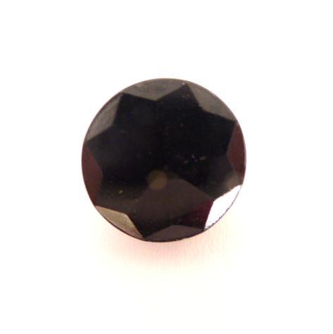 Black Glass Star Facet button (no.00524)