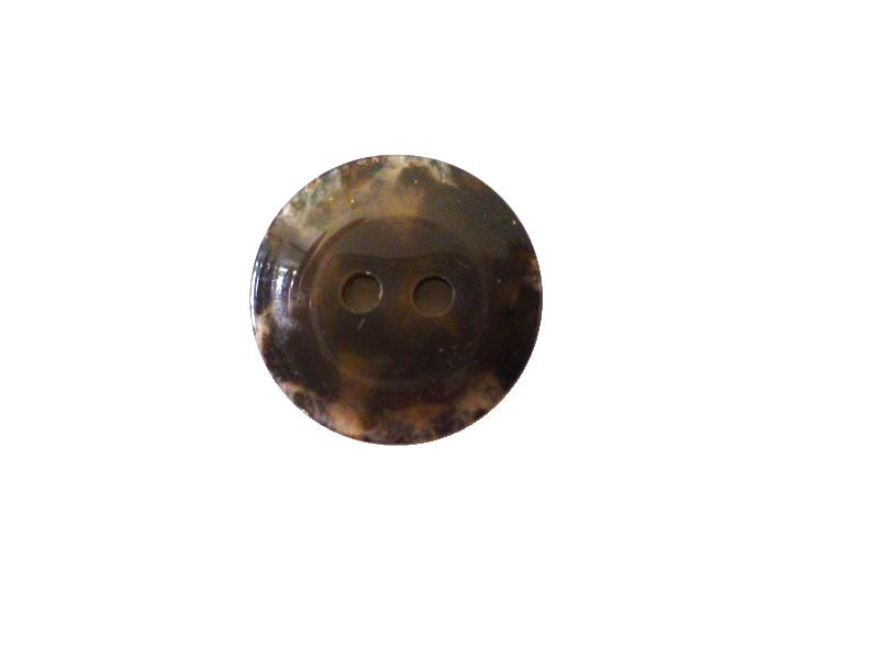 Mottled Dark Tortoiseshell Small button (no.00442)