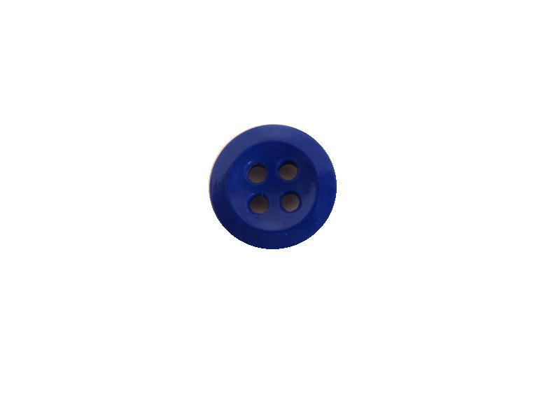 Royal Blue Tiny 4-Hole button (no.00430)