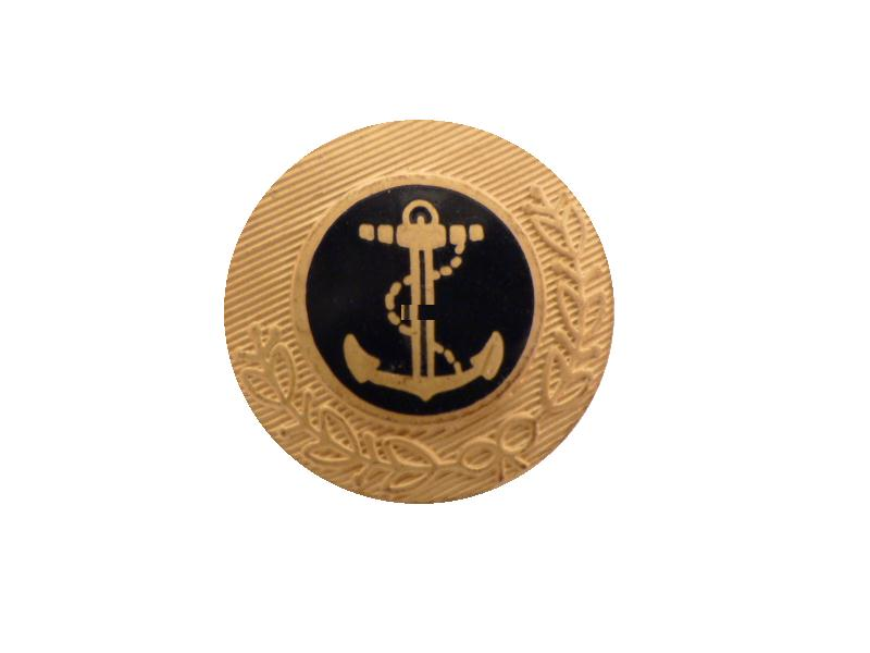 Lord Nelson Fine Gold and Black Enamel Anchor button (no.00596)