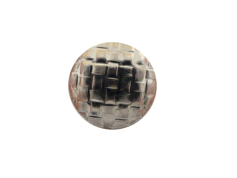 Chrome Basket Weave button(no.00609)