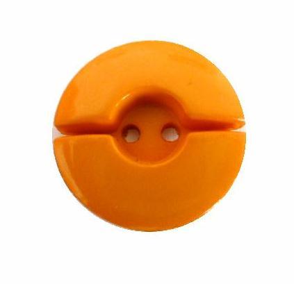 Bright Mustard Spilt Circle Medium button (no.00657)