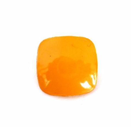 Bright Mustard Round Square Small button (no.00654)