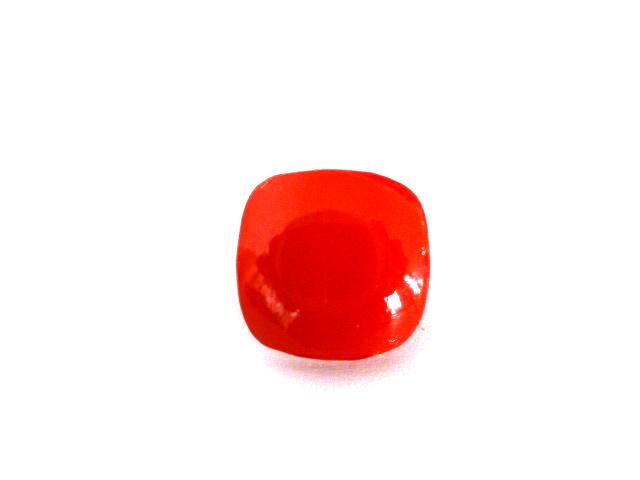 Red Rounded Square Small button (no.00656)