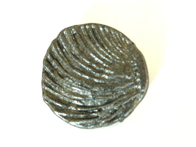 Grey Vintage Plastic Shell button (no.00618)