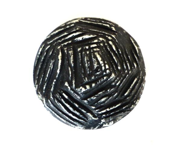 Black and White Rough Domed button (no.00633)
