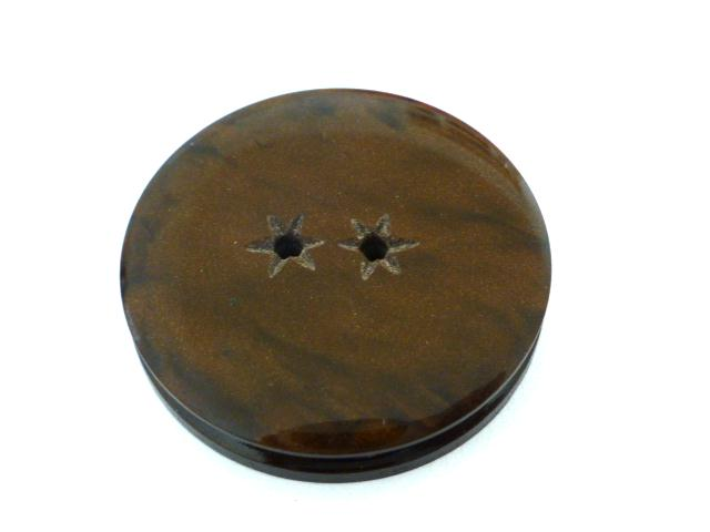 Brown Jukebox Plastic Star button (no.00627)