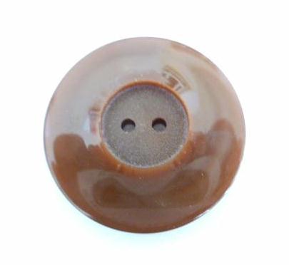 Plain Brown hole button (no.00619)