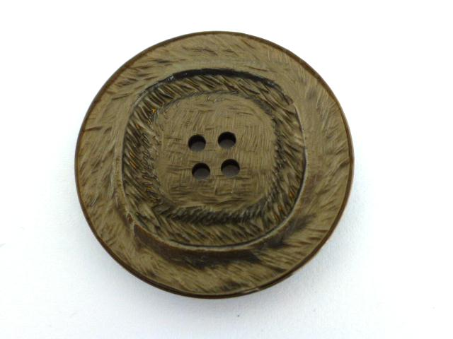 Brown Lustred Textured button (no.00625)