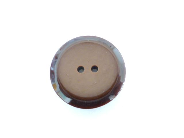 Brown Dark Edge button (no.00628)