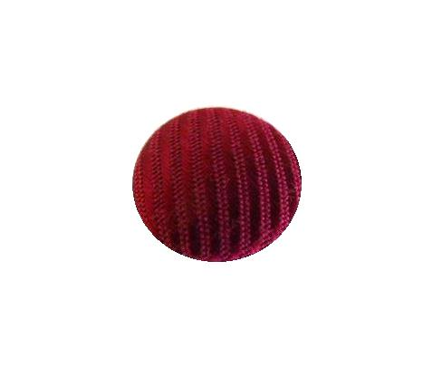 Cerise Striped Satin button (no.00728)