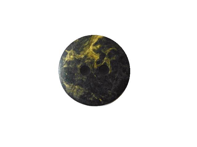 Charcoal Gold Veined Small button (no.00450)