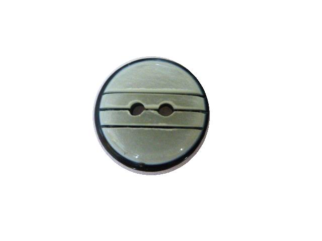 Black and White Cut Mother-of-Pearl Effect button (no.00647)