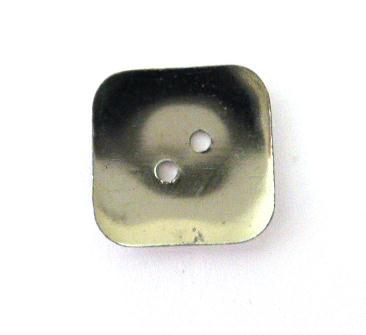 Fine Chrome Square button (no.00343)