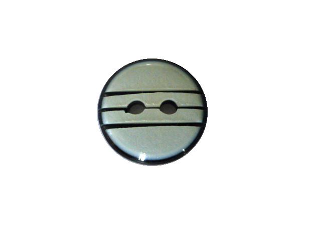 Black and White Cut Mother-of-Pearl Effect Small button (no.00648)