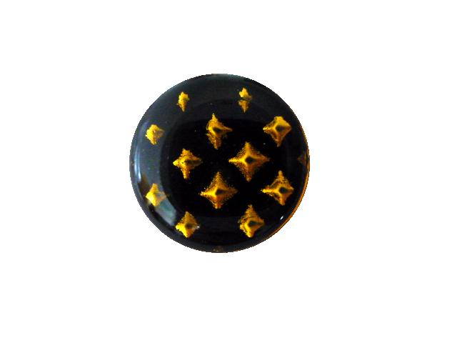 Black Enamel 3-D Star button (no.00667)