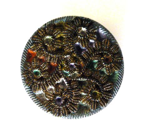 Passementerie Effect Glass Victorian button