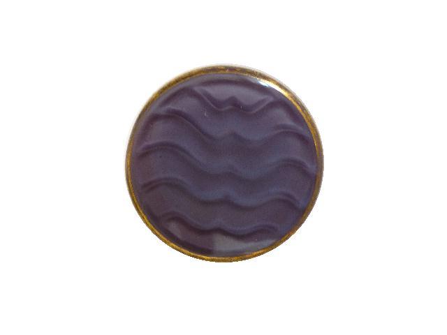 Purple Puce Wavy Gilt Glass button