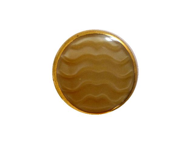 Beige Wavy Gilt Glass button