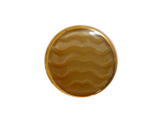 Beige Wavy Gilt Glass button