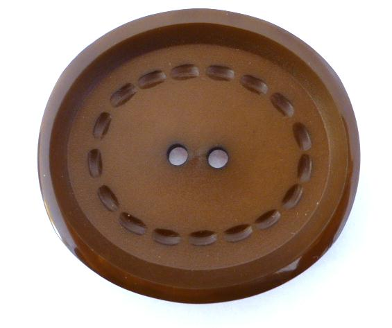 Brown Oval Stitch Large button (no.00707)