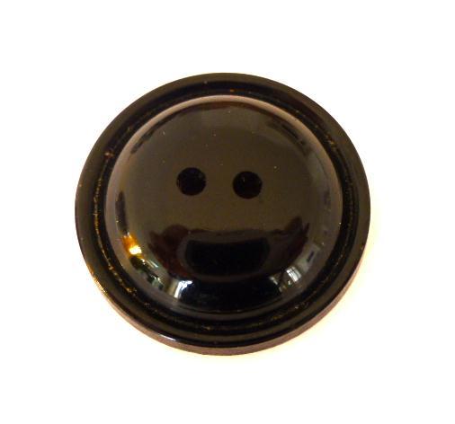 Black Deco Bun button (no.00276)