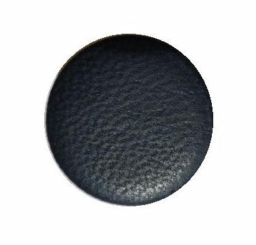 Dark Navy Leather Flat button (no.00723)