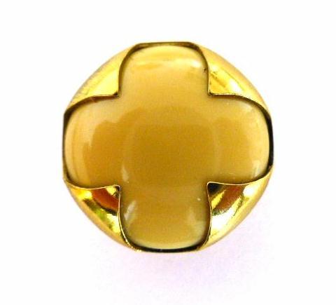 Honey Beige Brass Cased button