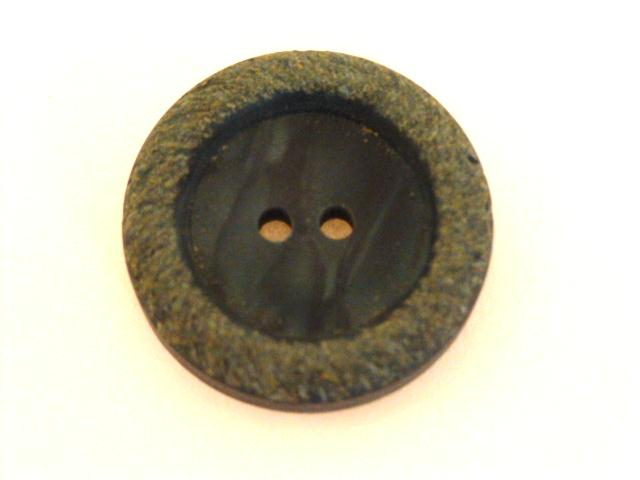 Teal Blue Rough Rim button (no.00687)