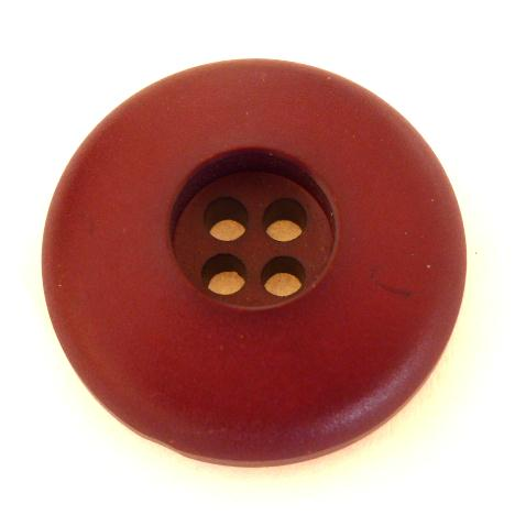 Burgundy Domed Recess 4-Hole button (no.0677)