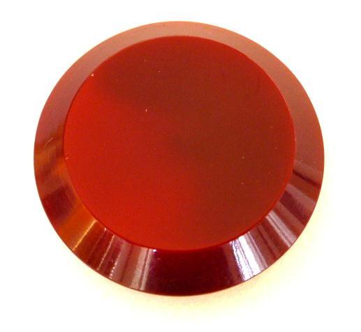 Maroon 2-Tone Champhered Edge button (no.00676)