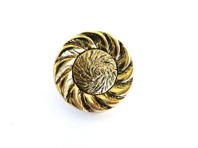 Gold Flower button (no.00152)