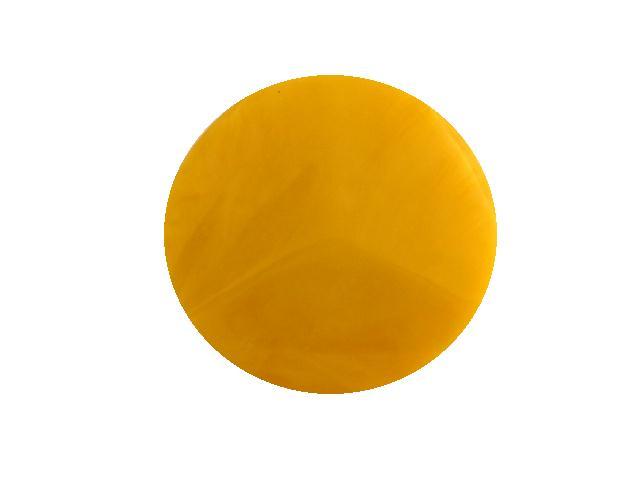 Deco Yellow Jukebox Plastic button (no.00711)