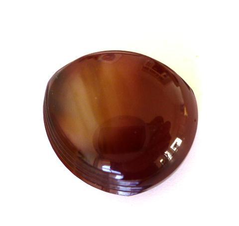 Burgundy Brown Triangular Dome button (no.00574)