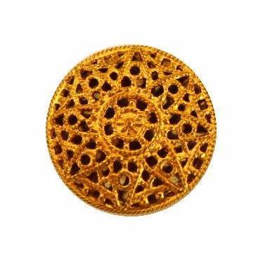Gold Filigree Mirror-back button