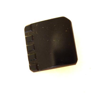 Deco Black Glass Square button (no.00576)