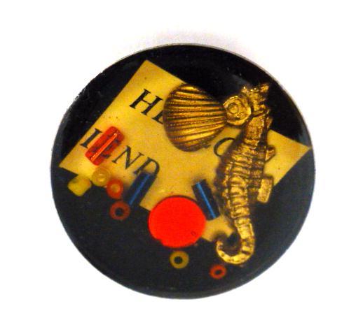 Treasure 'Seahorse' button