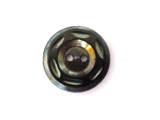 Tiny Carved Dark Grey Mother-of-Pearl button (no.00755)